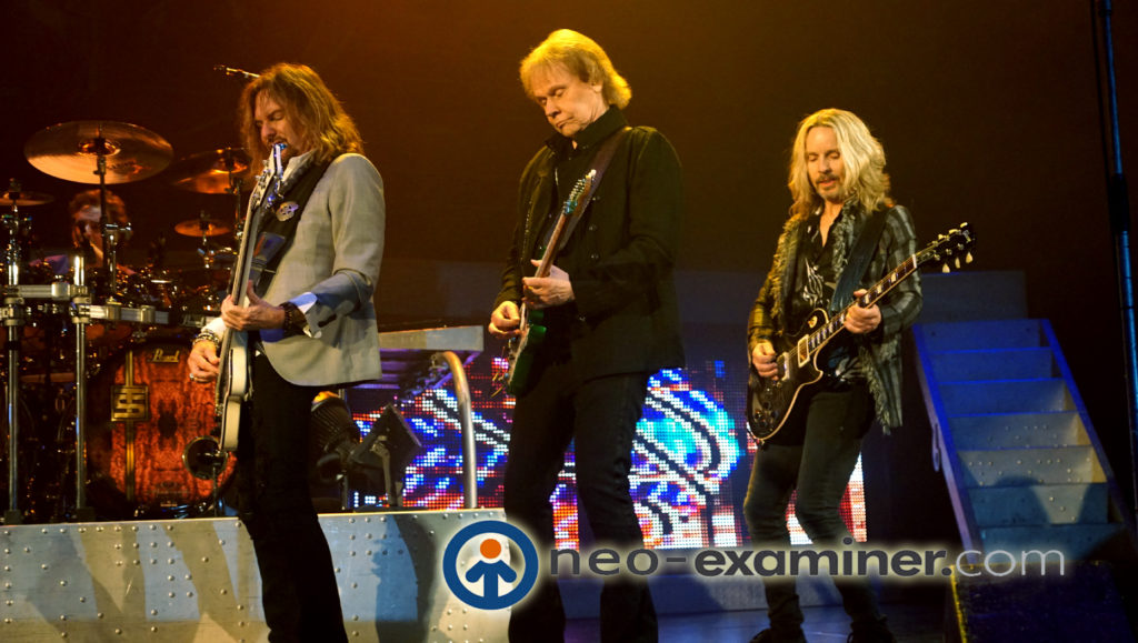 Ricky Phillips, James Young and Tommy Shaw of Styx