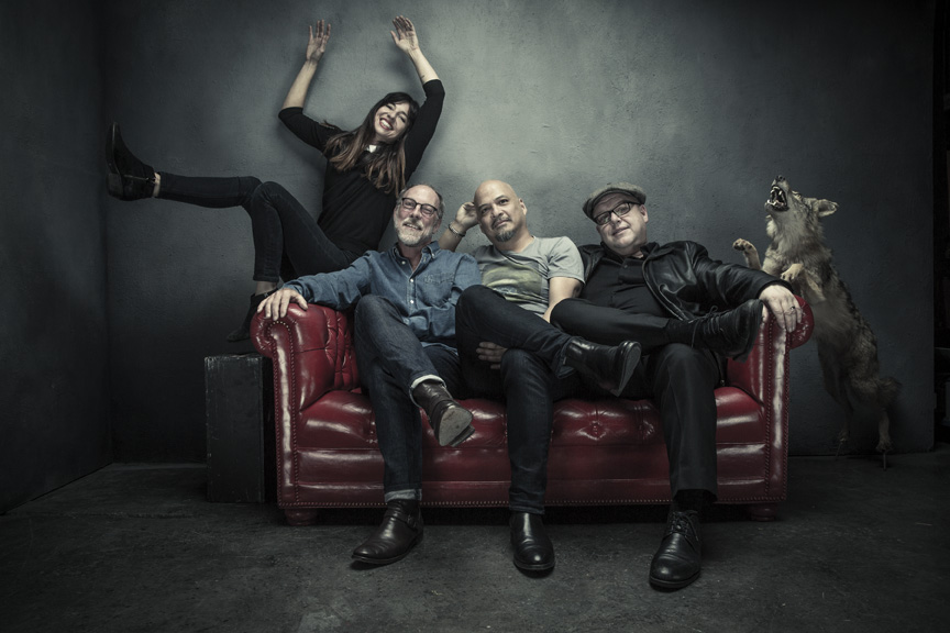 L-R: Paz Lenchantin, David Lovering, Joey Santiago, Black Francis Photo credit: Travis Shinn