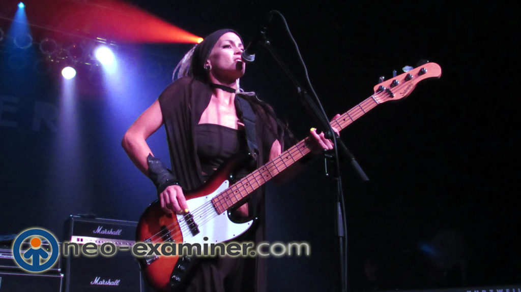 Dee's bass player Tayna live on stage