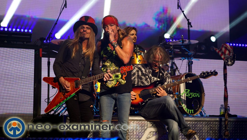 Poison live on stage ,
