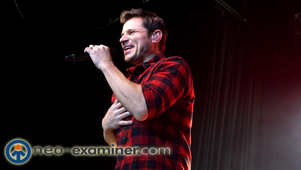 98 Degrees  live on stage.