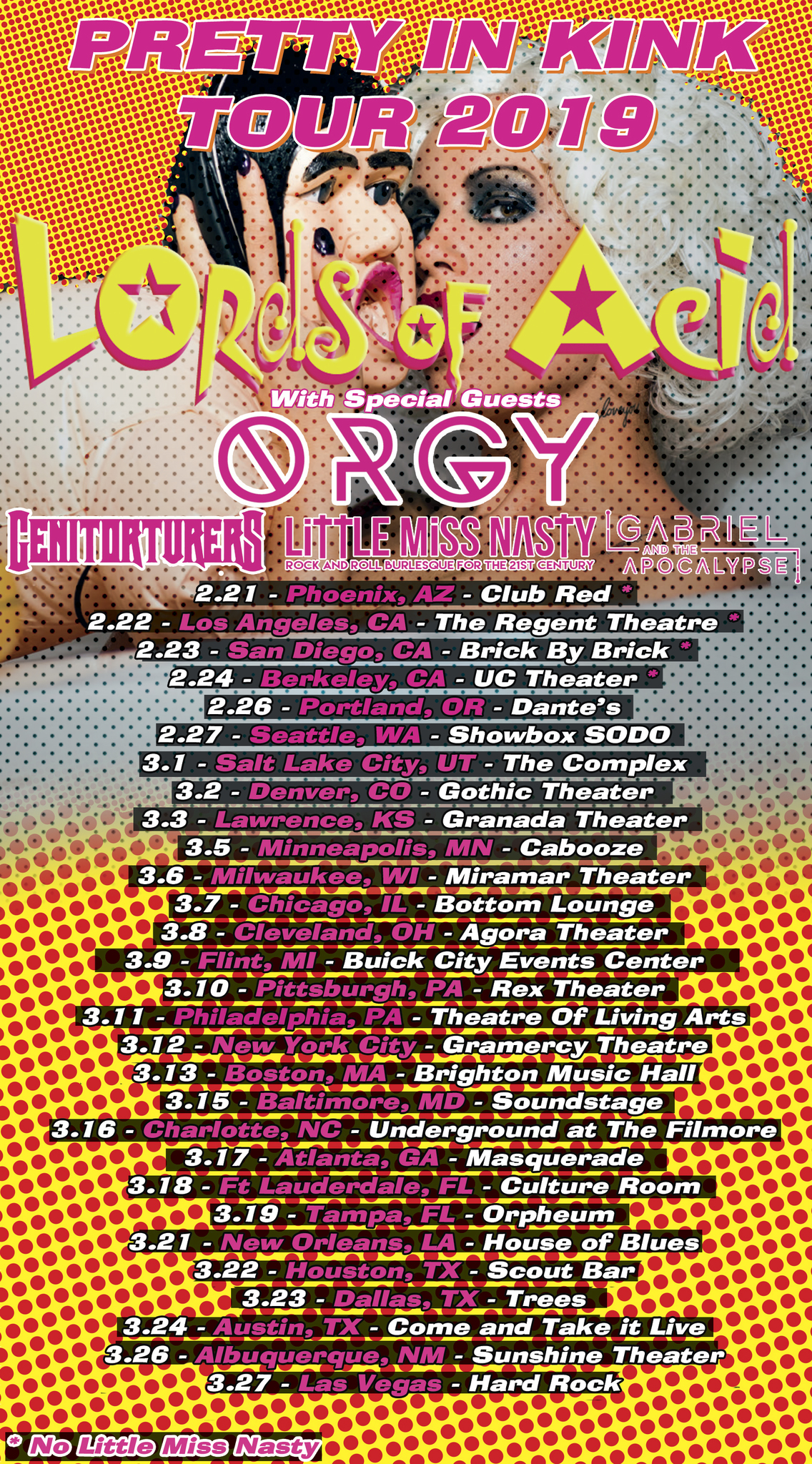 Win Tickets to the Pretty in Kink Tour, Featuring Lords of Acid and Orgy  !
