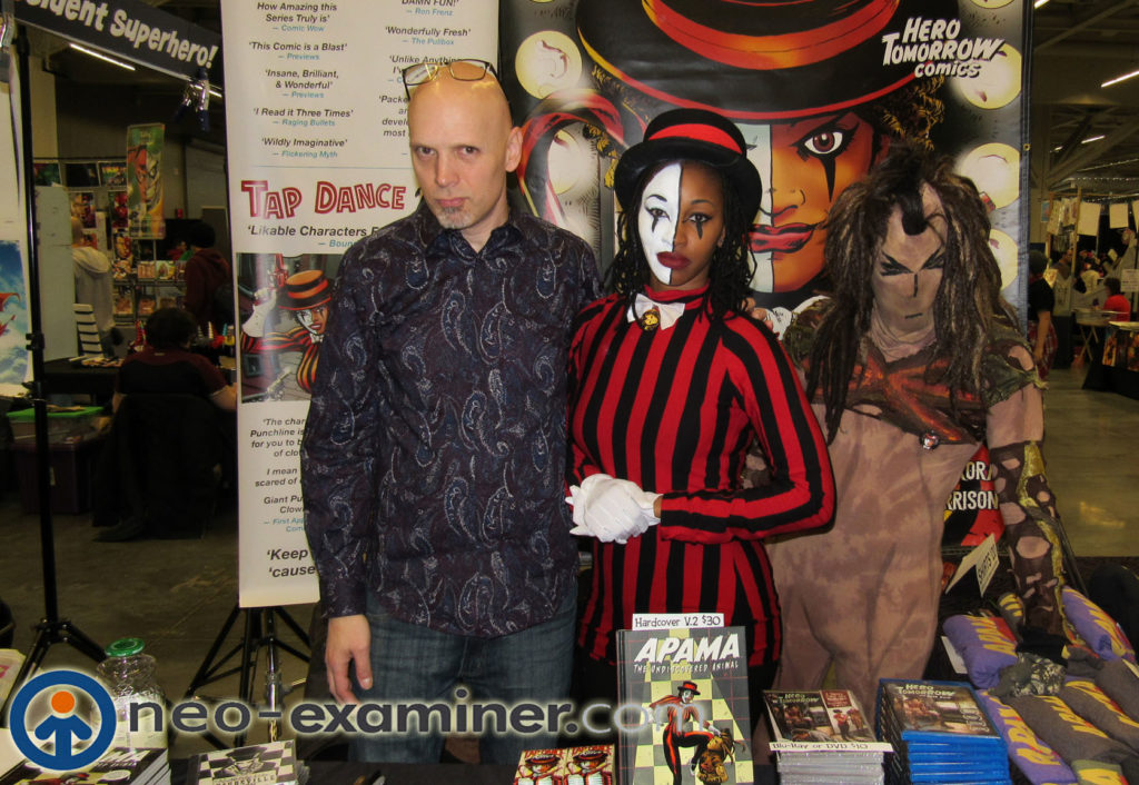 Ted Sikora and his creations at Wizard World
