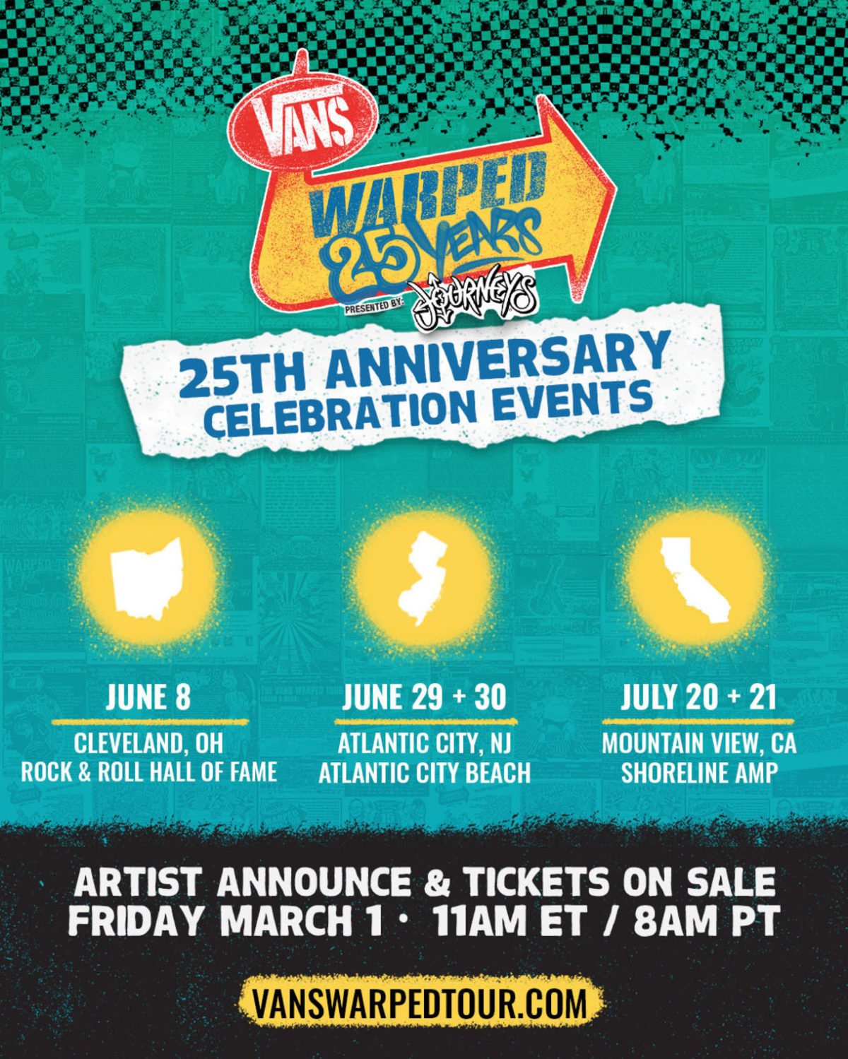 Artists Announced for Warped Tour  25th Anniversary Events