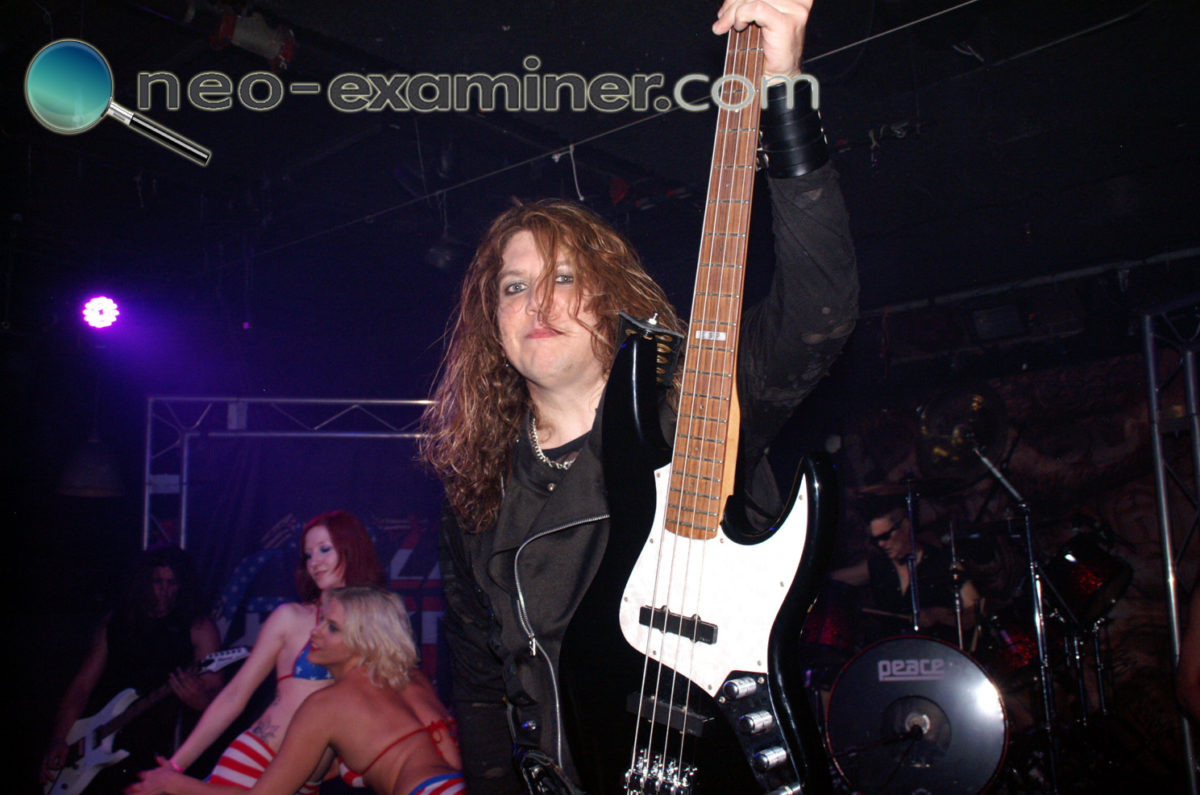 Marten performing with Lizzy Borden