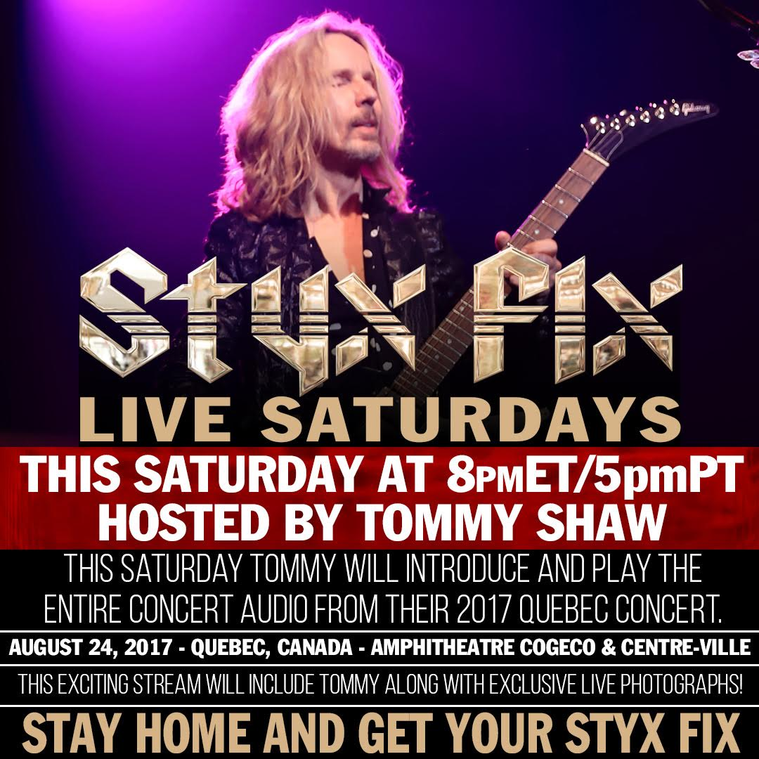 Styx Delights Fans with Online Concert Series During COVID19 Pandemic