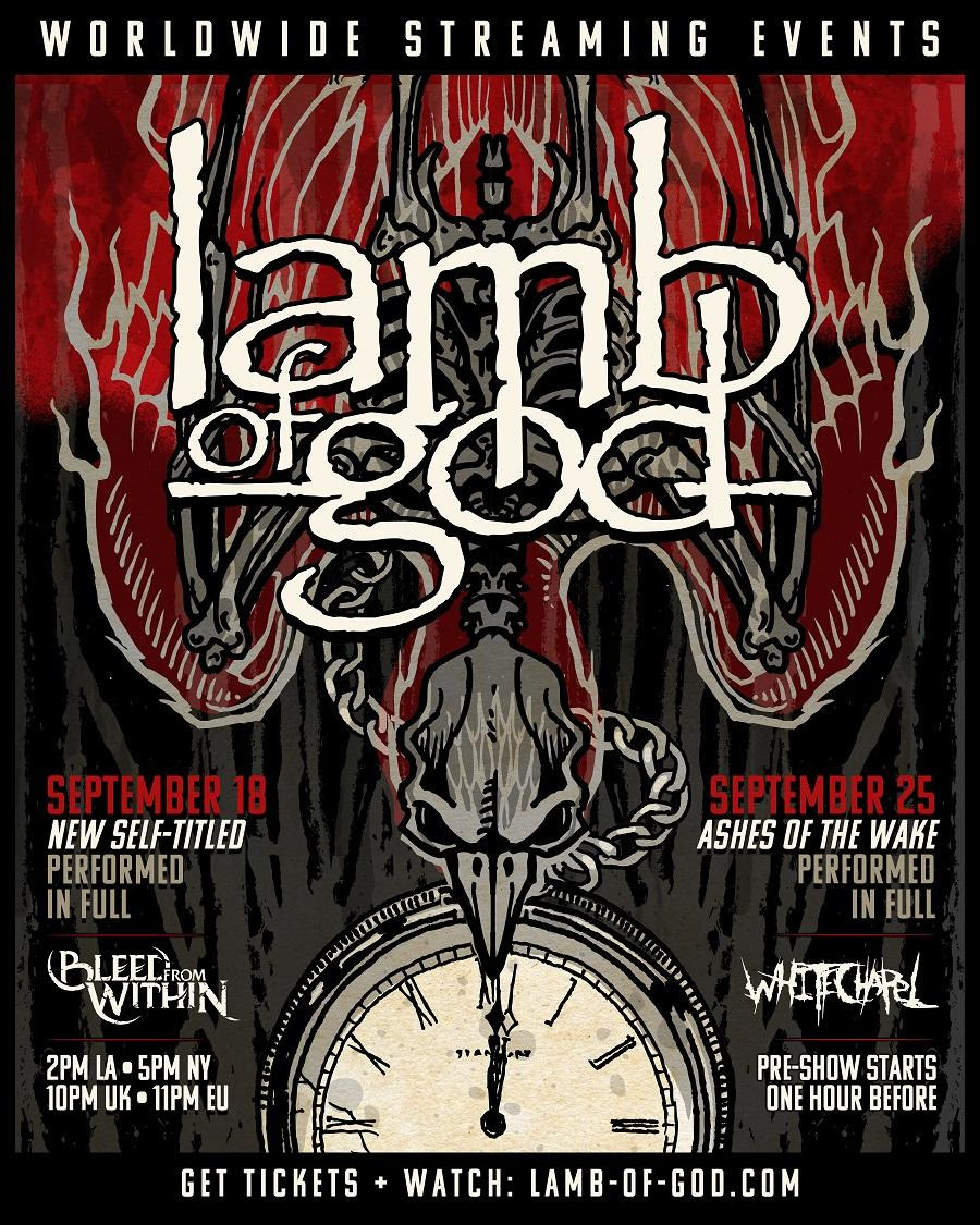 LAMB OF GOD Rips Through New Album with Surgical Precision in Streaming Concert Friday Night