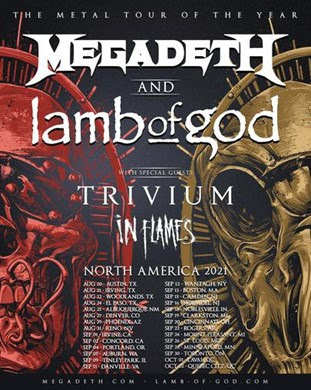 MEGADETH & LAMB OF GOD The Metal Tour Of The Year